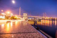 Вечерний вид Владивостока